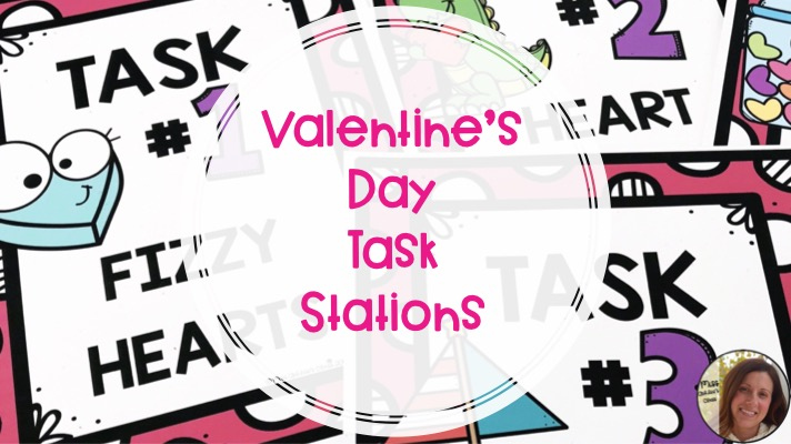 Valentine's Day Task Stations for Elementary and Special Ed