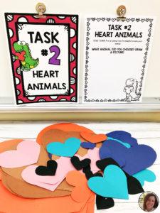 Heart Animal Task Station