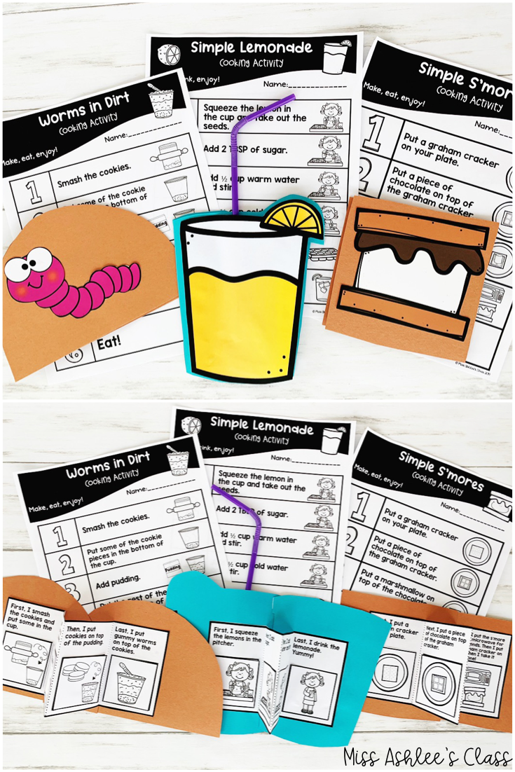 recipe and sequencing books
