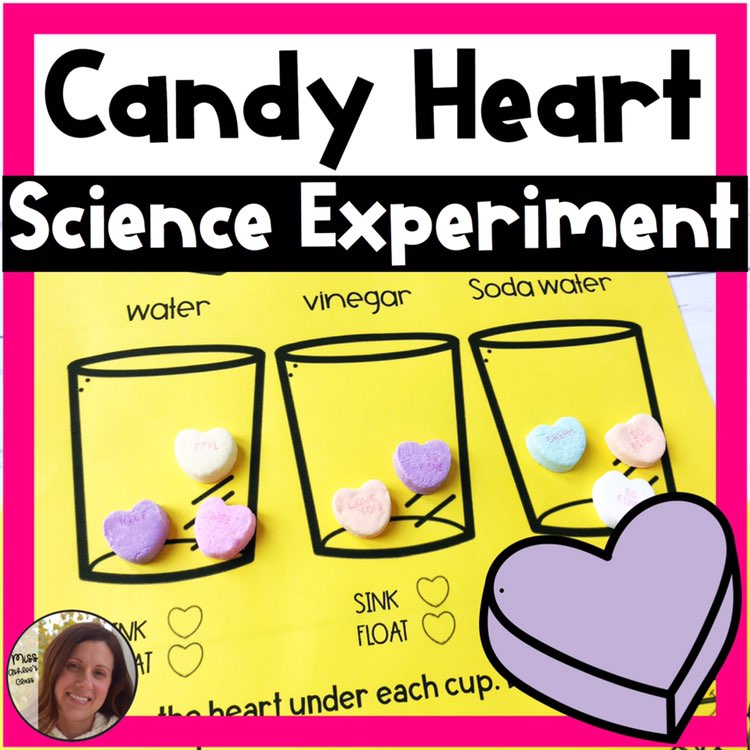 candy heart science experiment