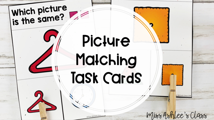 picture matching task cards