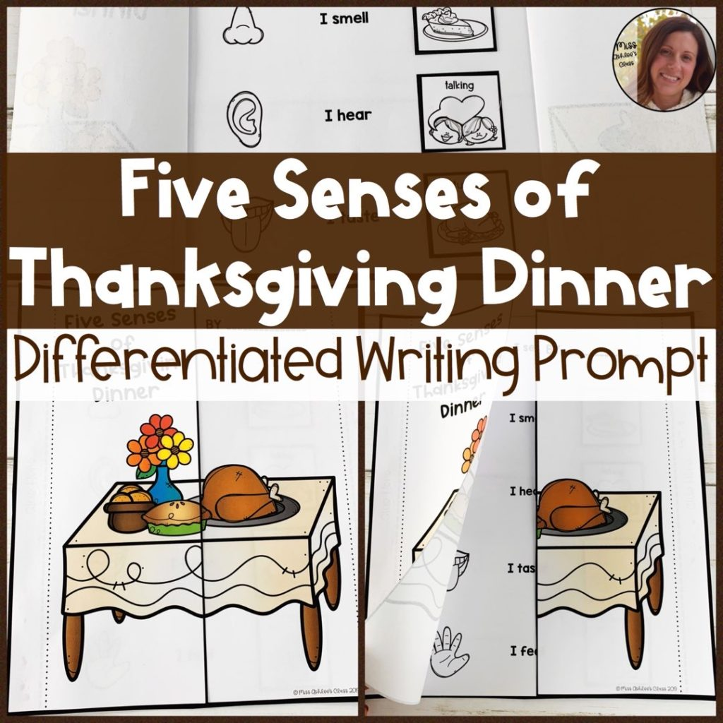 five senses of thanksgiving dinner writing prompt