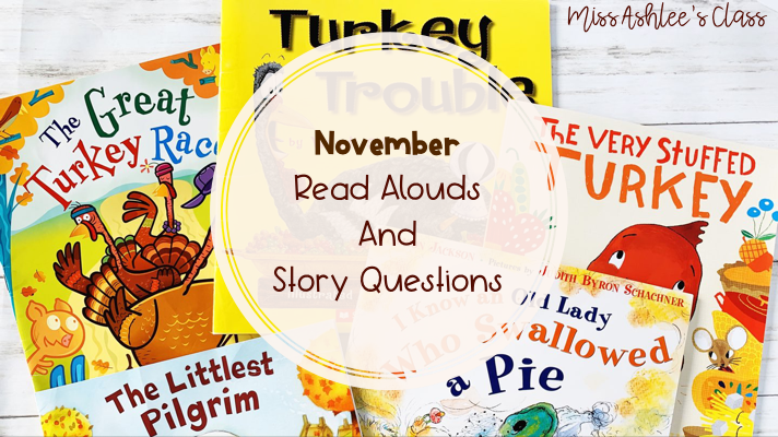 November Books and Read Aloud Activities