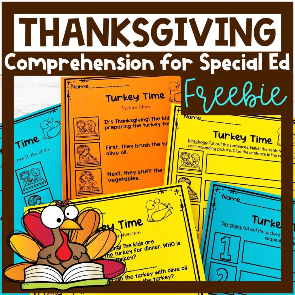 thanksgiving comprehension freebie