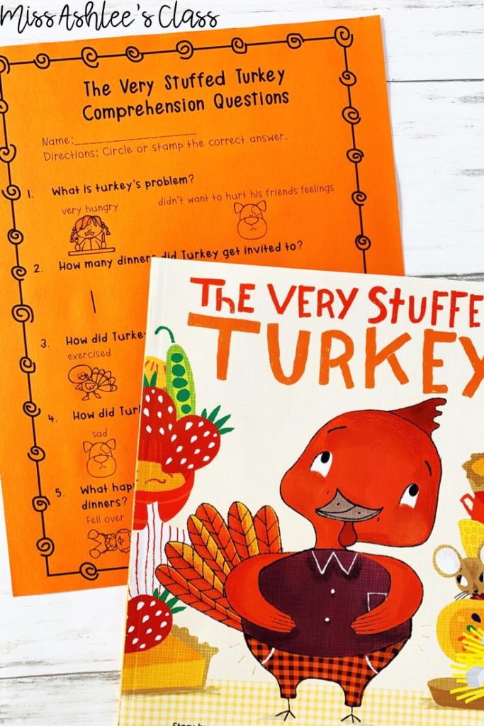 the very stuffed turkey read aloud activity