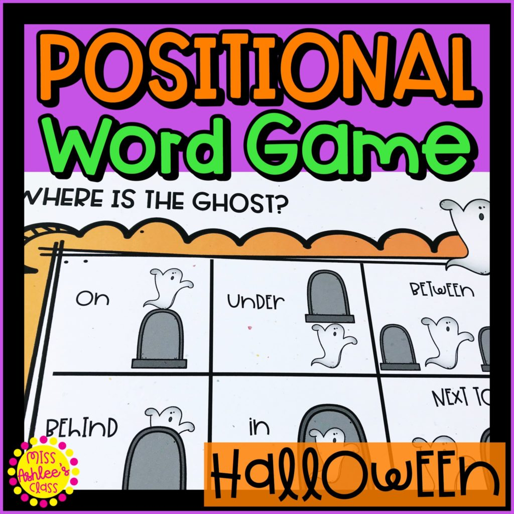 where is the ghost halloween positional word game