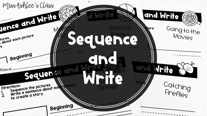 Sequence and Write Freebie for Distance Learning