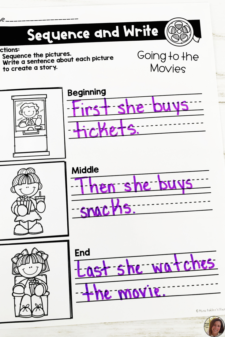 Sequence And Write Freebie For Distance Learning Miss Ashlee S Class