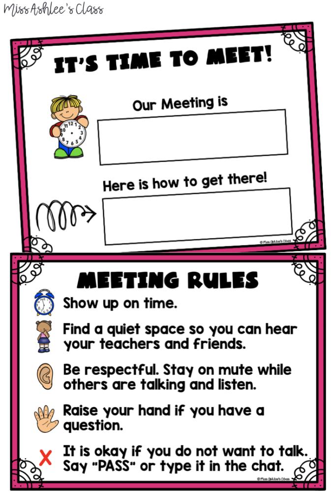 online meeting rules