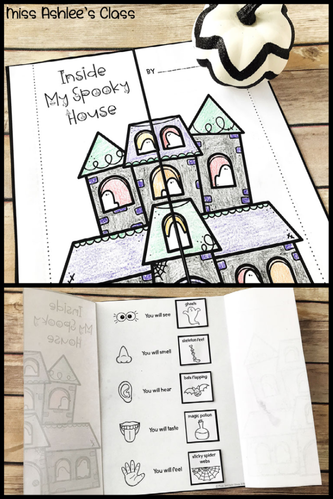 spooky house flap page