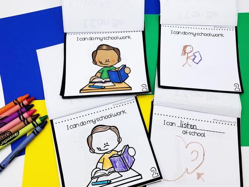responsibility lesson mini book