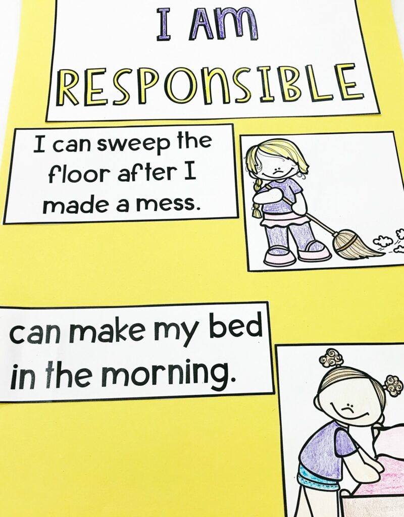 responsibility lesson poster