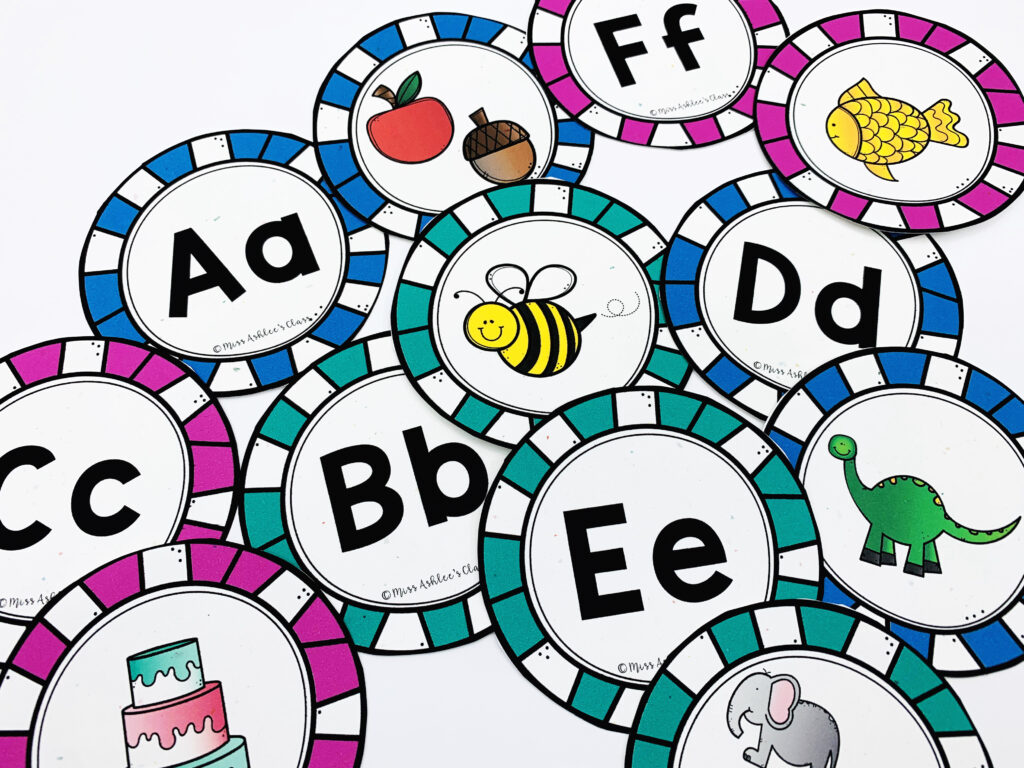 alphabet poster circles