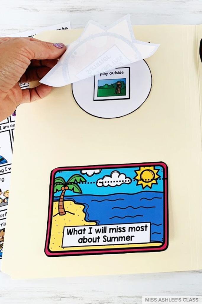 back to school file folder book