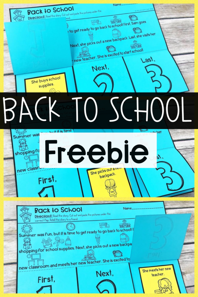 back to school sequencing freebie image