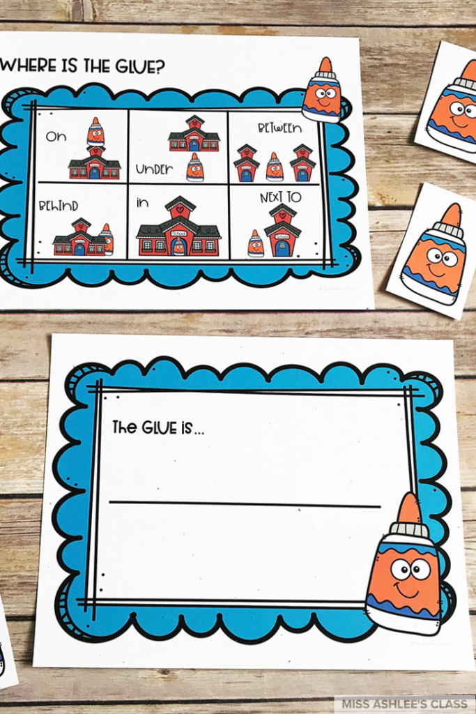where is the glue positional word game
